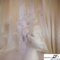 Silver Dramatic Feather Fascinator NR325
